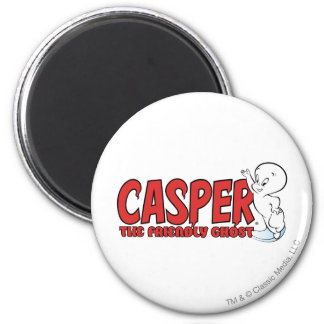 Casper the Friendly Ghost Red Logo 2 Magnets