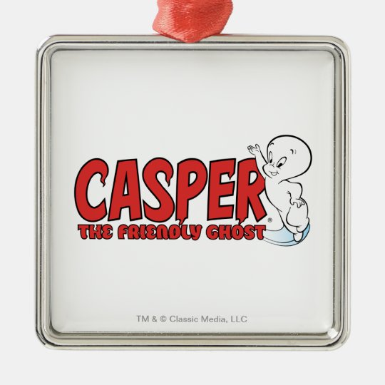 Casper the Friendly Ghost Red Logo 2 Metal Ornament