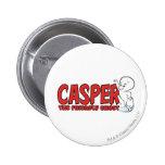 Casper the Friendly Ghost Red Logo 2 Pinback Button