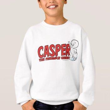 Casper The Friendly Ghost Red Logo 2 Sweatshirt by casper at Zazzle