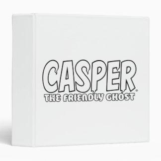 Casper the Friendly Ghost White Logo 3 Ring Binder