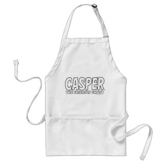Casper the Friendly Ghost White Logo Aprons