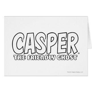Casper the Friendly Ghost White Logo Greeting Card