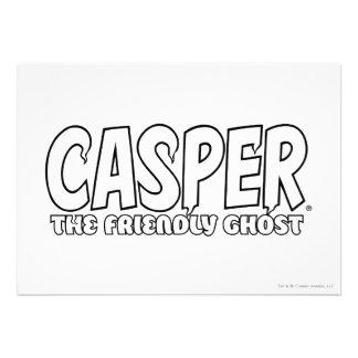 Casper the Friendly Ghost White Logo Personalized Invitations