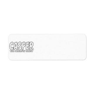 Casper the Friendly Ghost White Logo Return Address Labels