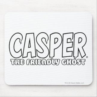 Casper the Friendly Ghost White Logo Mouse Pad