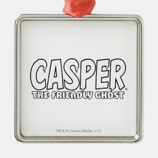 Casper the Friendly Ghost White Logo Christmas Ornaments