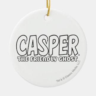 Casper the Friendly Ghost White Logo Ornaments