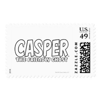 Casper the Friendly Ghost White Logo Postage Stamps