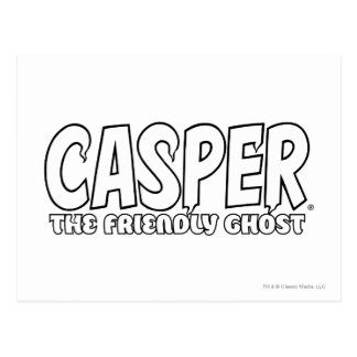 Casper the Friendly Ghost White Logo Postcard