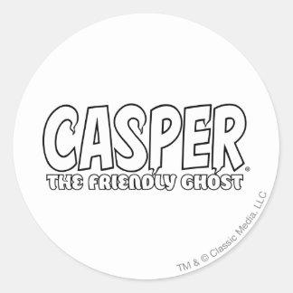 Casper the Friendly Ghost White Logo Sticker