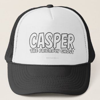 Casper The Friendly Ghost White Logo Trucker Hat by casper at Zazzle