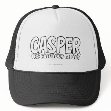 Halloween Themed Casper the Friendly Ghost White Logo Trucker Hat