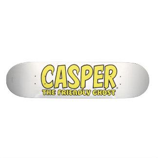 Casper the Friendly Ghost Yellow Logo Skateboard Deck