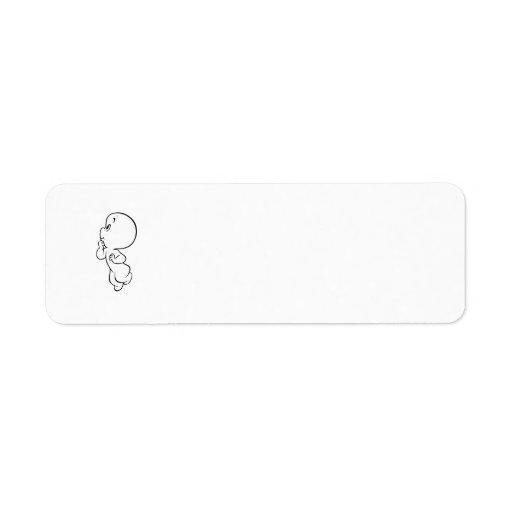 Casper Thinking Pose Label