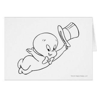 Casper Top Hat Greeting Card