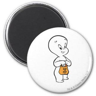 Casper Trick or Treat 2 Inch Round Magnet
