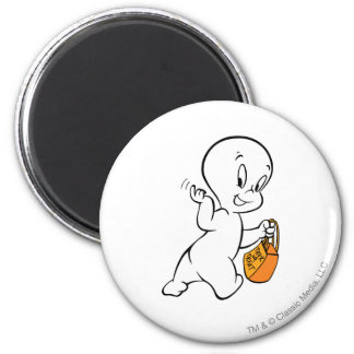 Casper Trick or Treat 4 2 Inch Round Magnet