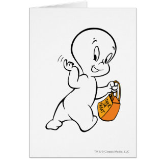 Casper Trick or Treat 4 Greeting Card