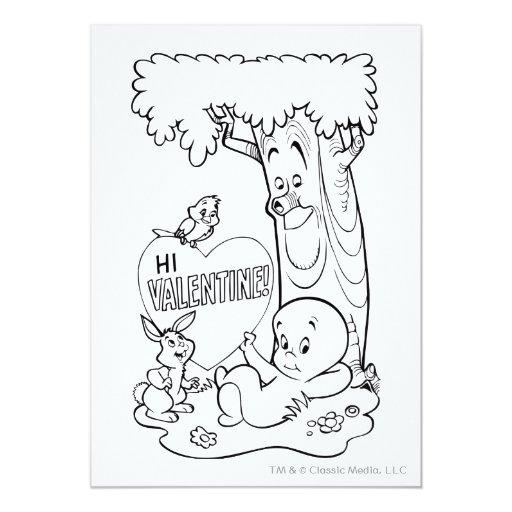 "Casper Valentine 5"" X 7"" Invitation Card"