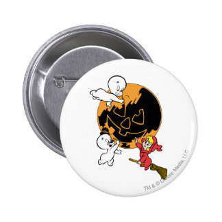 Casper, Wendy & Spooky Painting Button