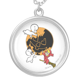 Casper, Wendy & Spooky Painting Silver Plated Necklace