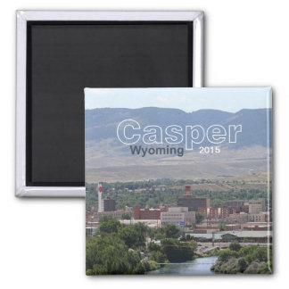 Casper Wyoming Souvenir Fridge Magnet Change Year