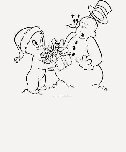 Casper y muñeco de nieve camiseta