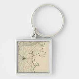Caspian Sea and Asia 2 Keychain