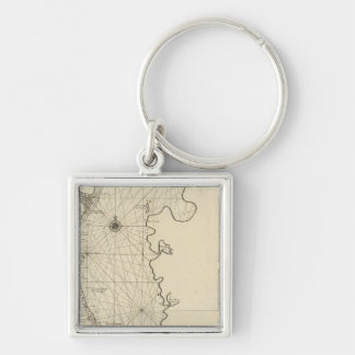 Caspian Sea and Asia Keychain
