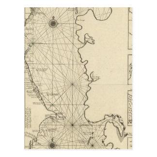 Caspian Sea and Asia Postcard