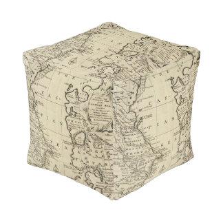 Caspian Sea Cube Pouf