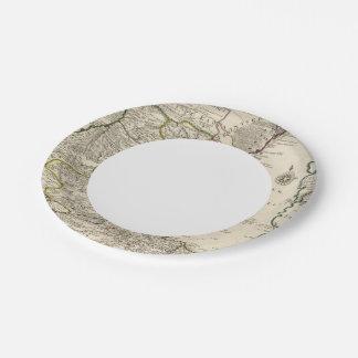 Caspian Sea Region Paper Plate