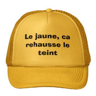 Casquette beaucoup trop jaune trucker hat