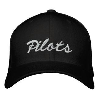 Casquillo 2009 de la bola de los pilotos - negro c gorras de beisbol bordadas
