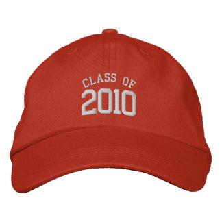casquillo 2010 de la graduación en naranja gorras bordadas