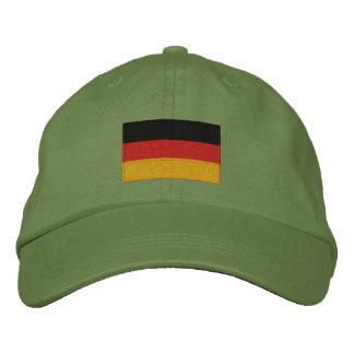 Casquillo ajustable bordado bandera alemana gorras de béisbol bordadas