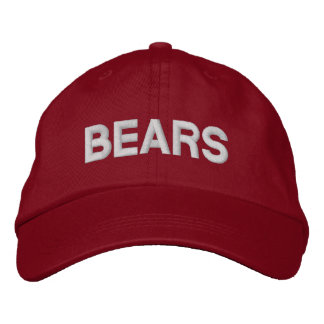 Casquillo ajustable de los osos gorras de béisbol bordadas