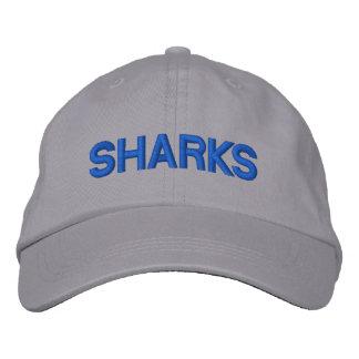 Casquillo ajustable de los tiburones gorra bordada