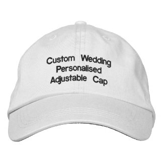 Casquillo ajustable personalizado boda de encargo gorra bordada