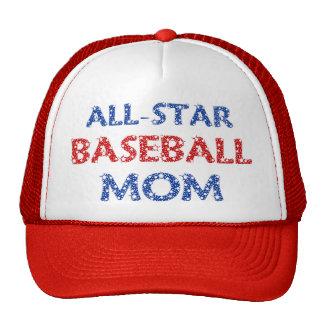 Casquillo All-star de la mamá del béisbol Gorro