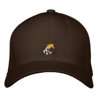 Casquillo amarillo cabido del caballo gorra de béisbol