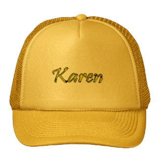 casquillo amarillo de la malla de Karen Gorro