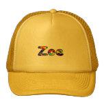 Casquillo amarillo de la malla de Zoe Gorra