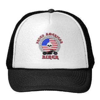 Casquillo americano orgulloso del motorista gorras