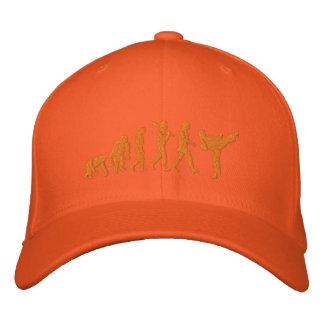 Casquillo anaranjado bordado de los artes marciale gorras de béisbol bordadas