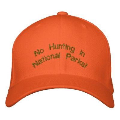 """Casquillo anaranjado brillante: ¡""""Ninguna caza en  Gorros Bordados"""