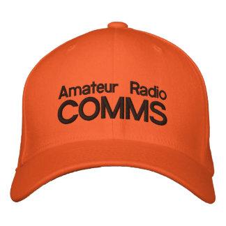 Casquillo anaranjado brillante para Comms de radio Gorra Bordada