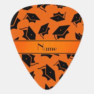 Casquillo anaranjado conocido personalizado de la púa de guitarra