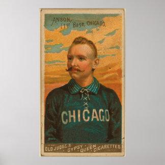 Casquillo Anson, medias del blanco de Chicago Posters